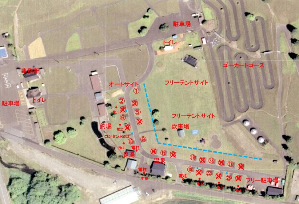 キャンプサイト図